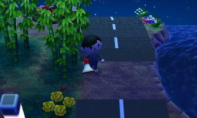 竹やぶ付近の道路@一時撤去