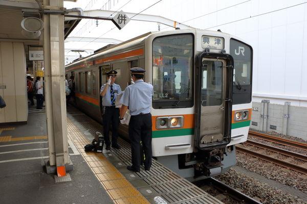 静岡駅到着後