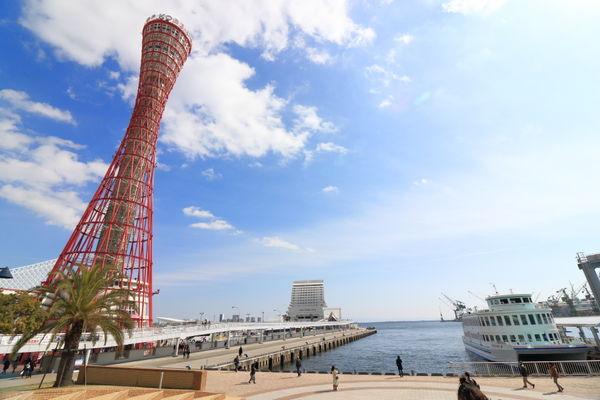 神戸ポートタワーと中突堤