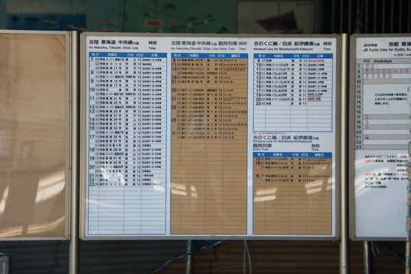 新大阪駅にある謎の時刻表?