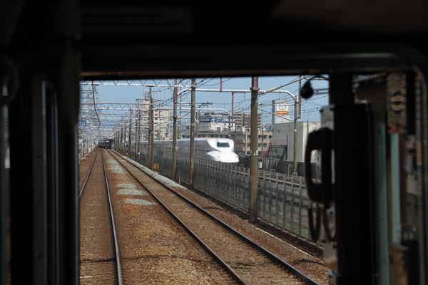 阪急と東海道新幹線の並走区間