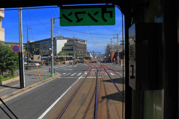 嵐電天神川駅付近