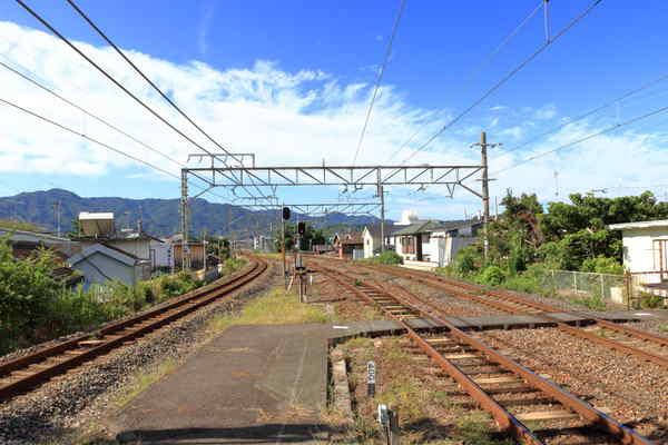 湯浅駅から下り方向に向けて