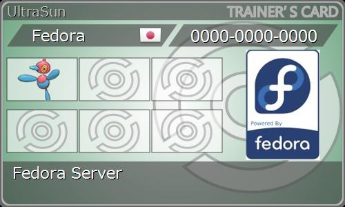 Fedora-Trainercard